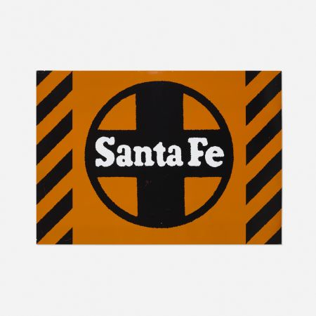 Screenprint Cottingham - Santa Fe Railway