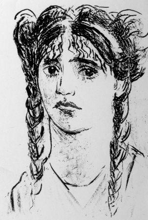 Lithograph Messina - Sappho Phaoni