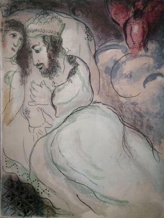 Lithograph Chagall - Sara et Abimeli