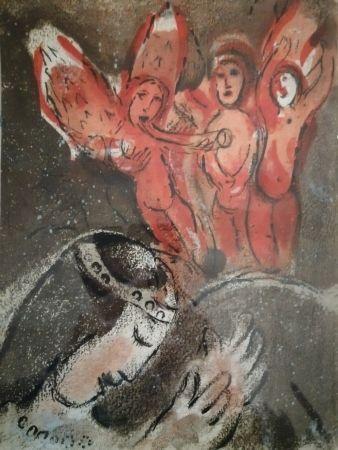 Lithograph Chagall - Sara et les Anges