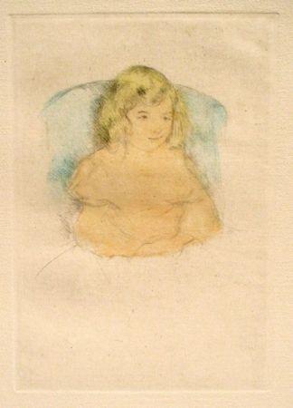 Drypoint Cassatt - Sara Smiling (c. 1904)