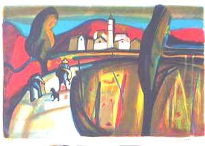 Lithograph Briata - Sartene
