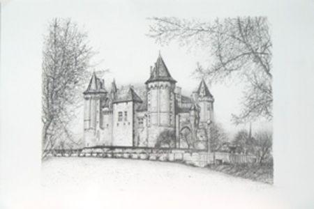 Lithograph Carzou - Saumur