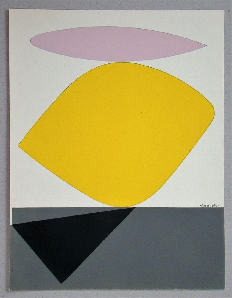 Pochoir Vasarely - Sauzon - 1952