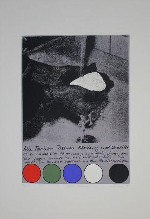 Screenprint Rühmann - Scharfe Überlegung