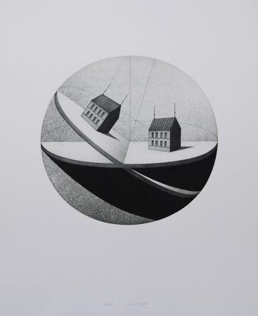 Etching And Aquatint Meckseper - Schiefe Ebene