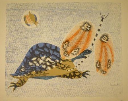 Lithograph Lurcat - (Schildkröte und Libelle)