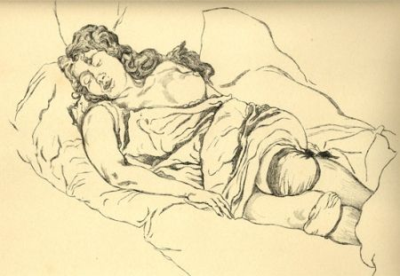 Illustrated Book Vrieslander - Schlafende Frauen / Sleeping Women