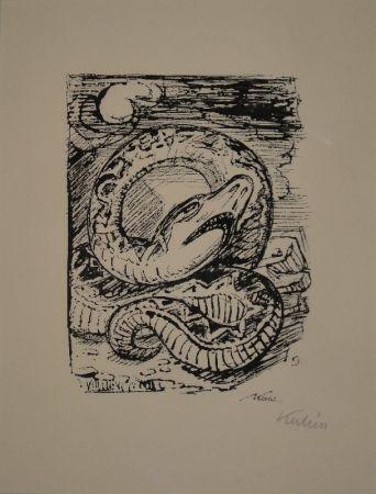 Lithograph Kubin - Schlange