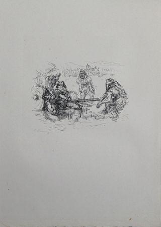 Lithograph Slevogt - Schmutzarbeit der vornehmen Perser