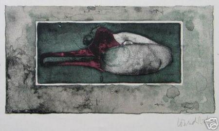 Lithograph Wunderlich - Schwanenkopf