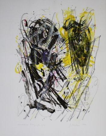 Lithograph Czichon - Schwarz - Gelb / Black - Yellow