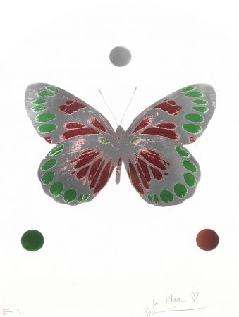 No Technical Hirst - Science Xmas Butterfly Print