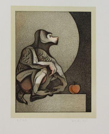 Lithograph Bodini - Scimmietta