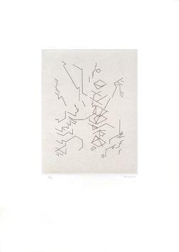 Etching And Aquatint Palazuelo - Script I