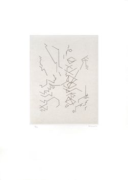 Aquatint Palazuelo - Script II