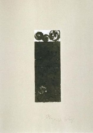 Lithograph Beuys - Scrolls