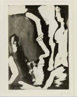 Etching And Aquatint Picasso - Sculpteur travaillant à un buste de femme II