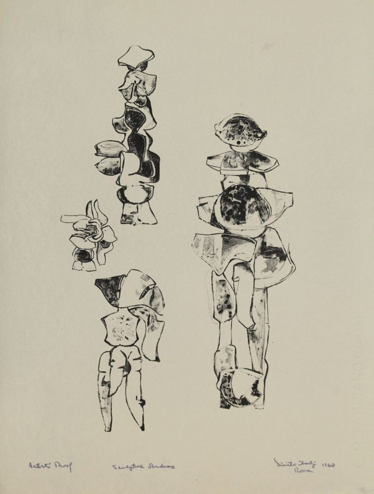 Lithograph Hadzi - Sculpture Studies