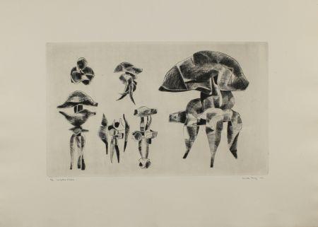Etching Hadzi - Sculpture Studies