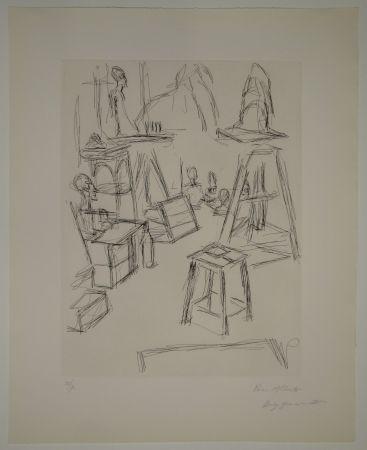 Engraving Giacometti - Sculptures dans l'atelier VI / Les Sculptures (Sculptures).