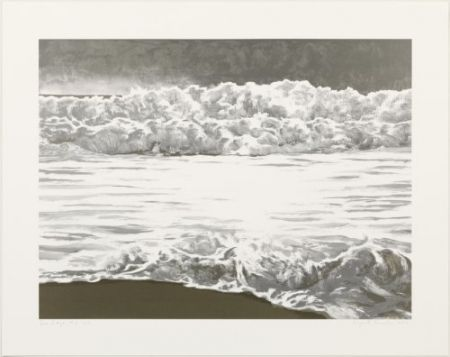 Lithograph Gornick - Sea edge