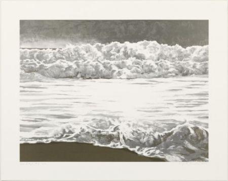 Lithograph Gornick - Sea edge