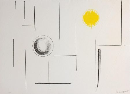Lithograph Hepworth - Sea Forms
