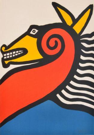 Lithograph Calder - Sea Horse