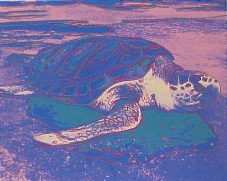 Screenprint Warhol - Sea Turtle