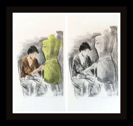 Lithograph Soyer - Seamstress II Portfolio