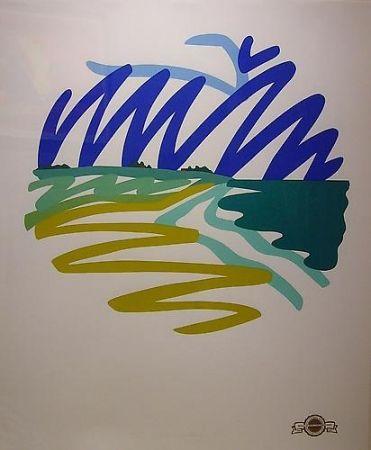 Screenprint Wesselmann - Seascape(Round)