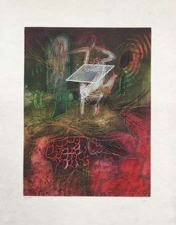 Etching And Aquatint Matta - Season in Hell – Damne par l'arc-en-ciel