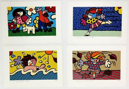 Screenprint Britto - SEASONS OF MIRACLES - SUITE OF 4