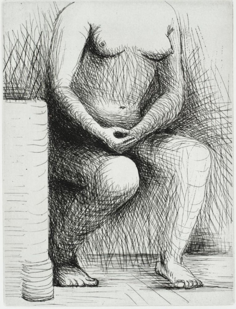 Etching Moore - Seated Figure
