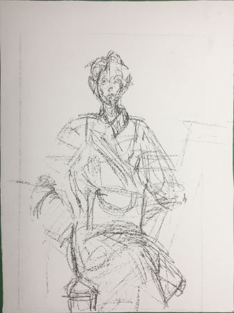 Lithograph Giacometti - Seated Figure (Derrière le Miroir n°127. 1961. Deluxe)