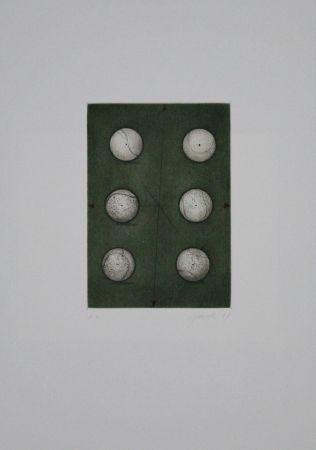 Etching And Aquatint Janak - Sechs Bälle / Six Balls