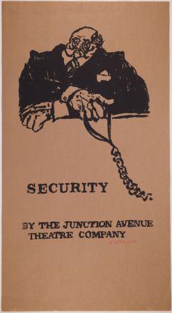 Screenprint Kentridge - Security