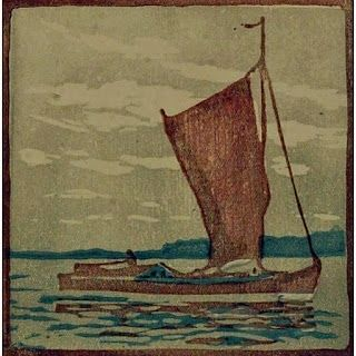 Woodcut Mass - Segelboot / Sailboat