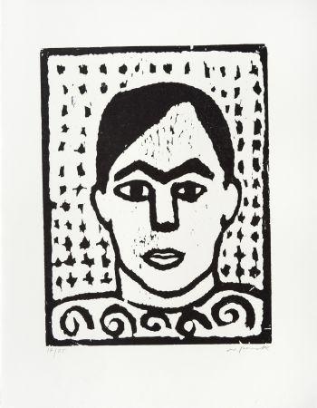 Woodcut Penck - Selbst