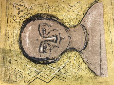 Lithograph Campigli - Selbstbildnis