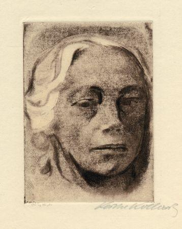 Engraving Kollwitz - Selbstbildnis