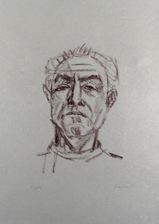 Lithograph Bargheer - Selbstbildnis