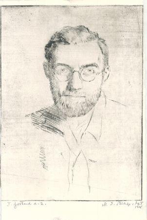 Engraving Philipp - Selbstbildnis