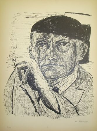 Lithograph Beckmann - Selbstbildnis (from portfolio Day and Dream)