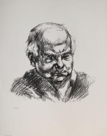 Lithograph Meidner - Selbstbildnis nach rechts