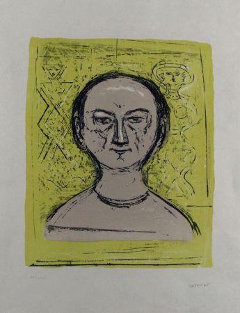 Lithograph Campigli - Selbstbildnis / Self-Portrait
