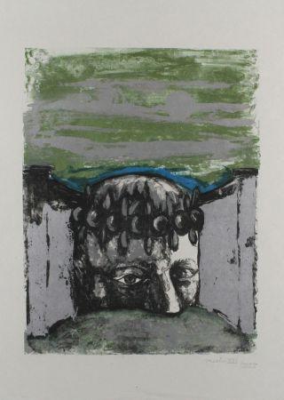 Lithograph Vacchi - Selbstbildnis / Self-Portrait