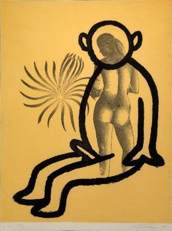 Aquatint Lüthi - Selbstporträt aus der Serie der großen Gefühle I