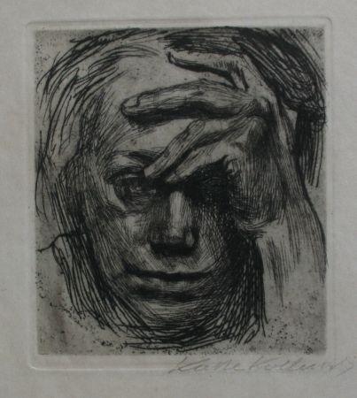 Etching Kollwitz - Self-portrait